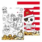 """Dāvanu maisiņi """"Pirātu karte"""", 23 x 16 cm, 8 gab., papīrs"""