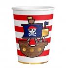 "Glāzītes ""Pirātu karte"", 250 ml, 8 gab., papīrs"