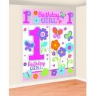 1 dzimšanas diena  -   sienu rotājumi komplekts