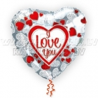 Folijas hēlija balons Love