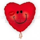 Folijas hēlija balons Smaidiņš - sirds formas balons,
