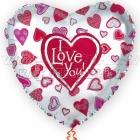 Folijas hēlija balons  I LOVE YOU