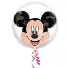 """Balons balonā """"Pelīte Mikijs"""",  pvc caurspīdigs hēlija balons, izmērs 60 cm"""