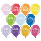 """Baloni ar apdruku - Daudz Laimes Dzimšanas Dienā - Metaliks, 12""""/30cm, 6 gab., krāsas sortimentē"""