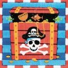 Dekorativās papīra salvetes Tēma: Pirāti 32,7cm  x 32.7cm 16 gab