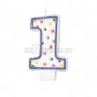"""8cm svece tortei -  Skaitlis """"1"""""""
