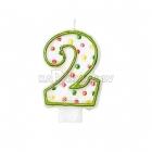 """8cm svece tortei -  Skaitlis """"2"""""""
