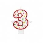 """8cm svece tortei -  Skaitlis """"3"""""""