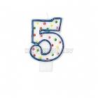 """8cm svece tortei -  Skaitlis """"5"""""""