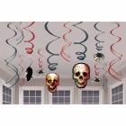 Dekorācijas Helovīnam, spirālveida, 12 gab