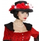 """My Fair Lady"" melna cepure ar ziediem"