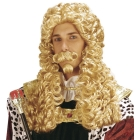 Baroka stila LE ROI parūka ar bārdu un ūsām